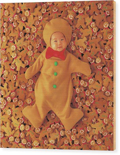 Gingerbread Baby Wood Print
