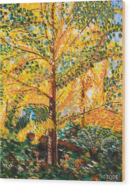 Gingko Tree Wood Print