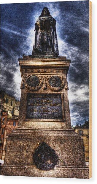 Giordano Bruno Wood Print by Brian Thomson