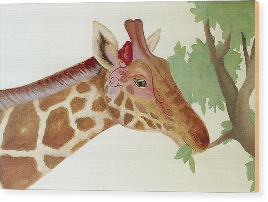 Giraffe Avatar Wood Print