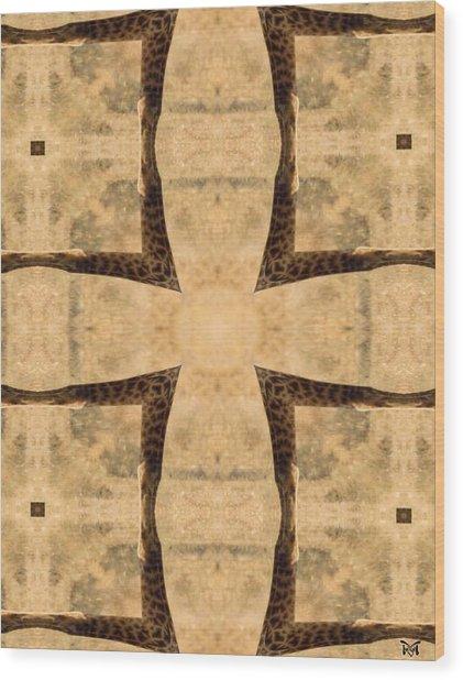 Giraffe Cross Wood Print
