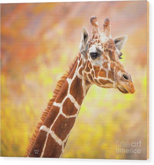 Giraffe, Animal Decor, Nursery Decor,  Wood Print