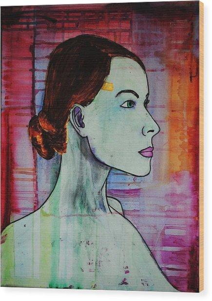 Girl 15 Wood Print