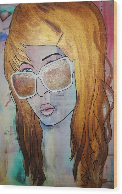 Girl 16 Wood Print