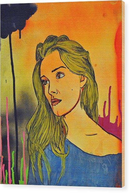 Girl 21 Wood Print