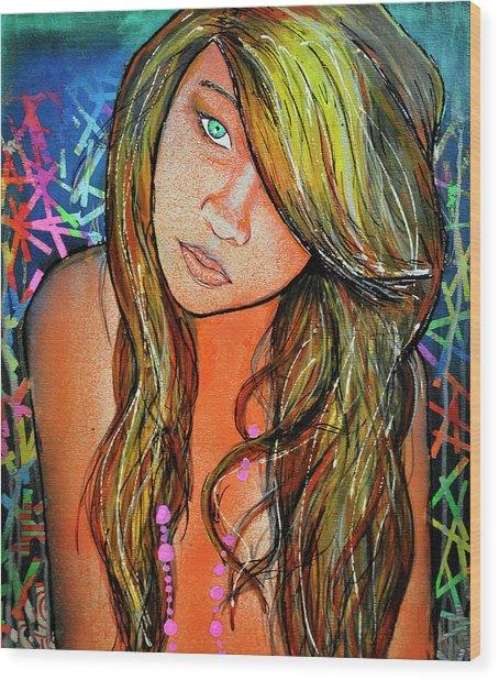 Girl 22 Wood Print