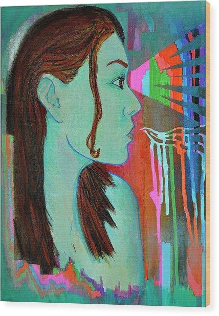 Girl 24 Wood Print
