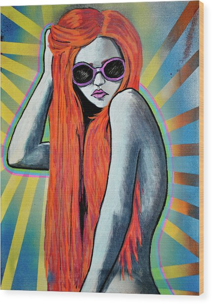 Girl 25 Wood Print