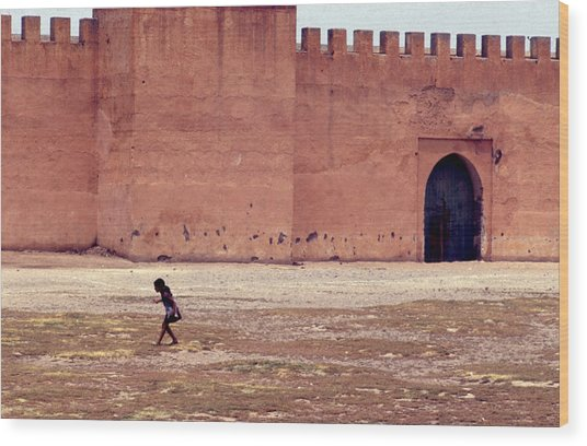 Girl In Marrakesh  Wood Print