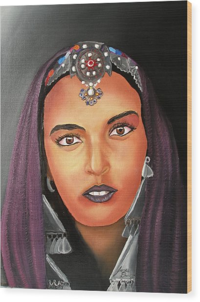Girl Of Morocco Wood Print by Portland Art Creations