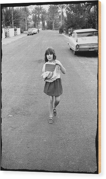 Girl On 13th Street, 1971 Wood Print