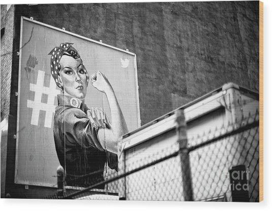 Girl Power New York City Wood Print by John Rizzuto