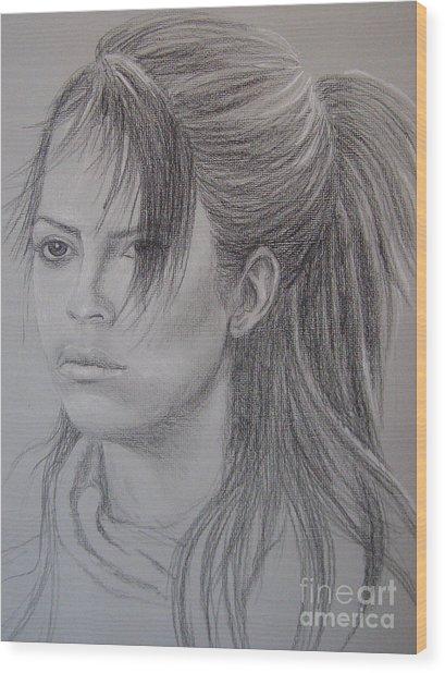 Girl With Attitude Wood Print