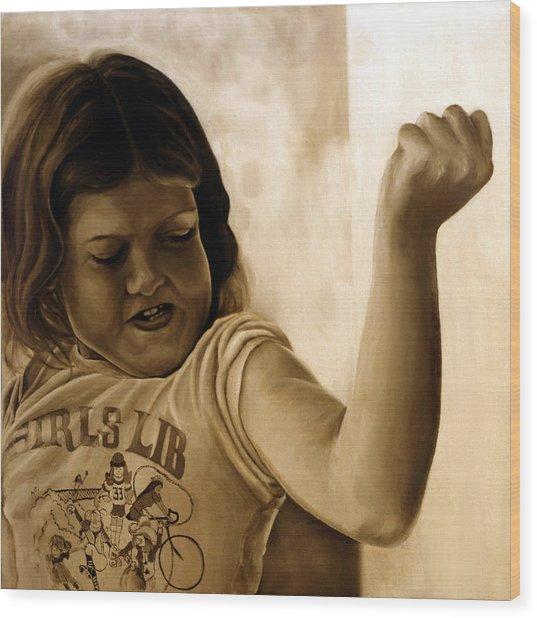 Girl's Lib Wood Print by Anni Adkins