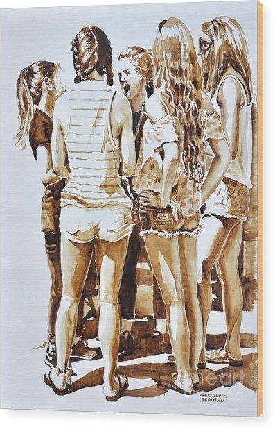 Girls Summer Fun Wood Print