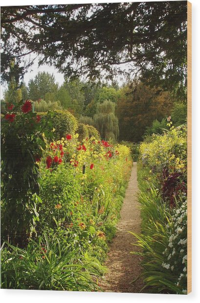 Giverny I Wood Print by Wendy Uvino