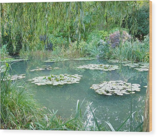 Giverny V Wood Print by Wendy Uvino