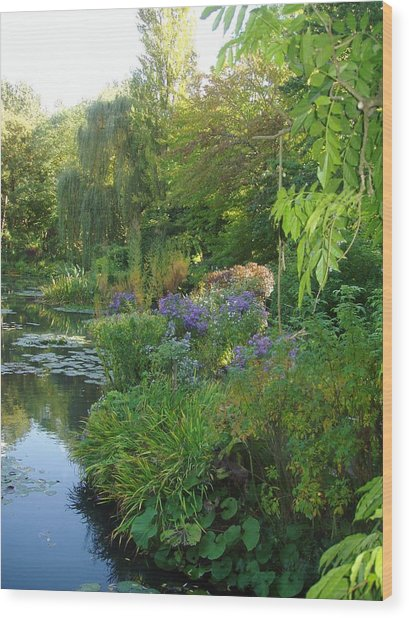Giverny Vi Wood Print by Wendy Uvino