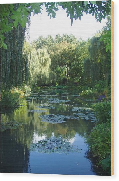 Giverny Vii Wood Print by Wendy Uvino