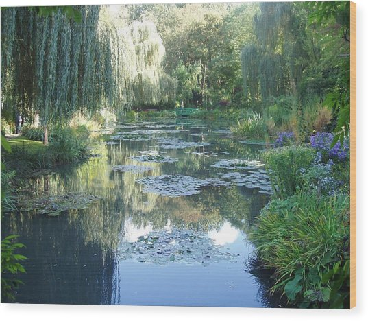 Giverny Viii Wood Print by Wendy Uvino