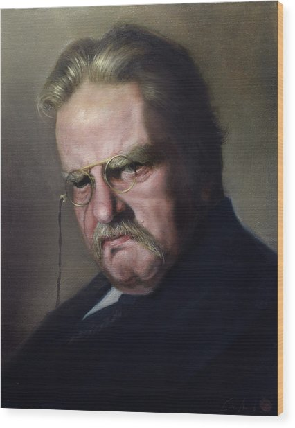 G.k. Chesterton Wood Print by Eric  Armusik