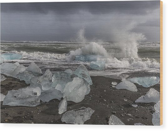 Glacial Lagoon Iceland 2 Wood Print