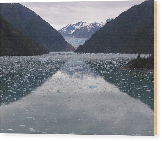 Glacier Blues Wood Print
