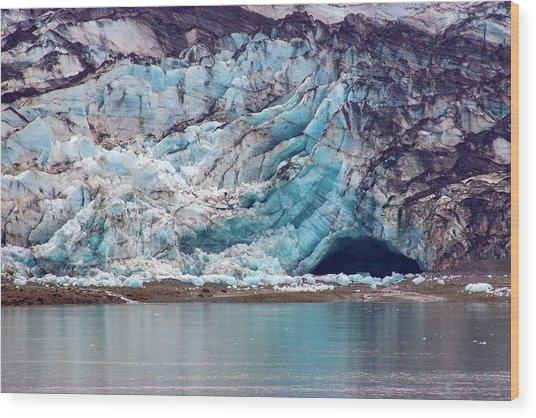 Glacier Cave Wood Print