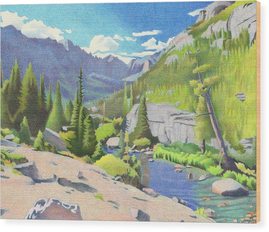 Glacier Gorge Wood Print