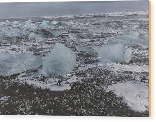 Glacier Ice 3 Wood Print