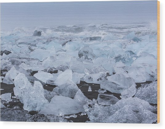 Glacier Ice Wood Print