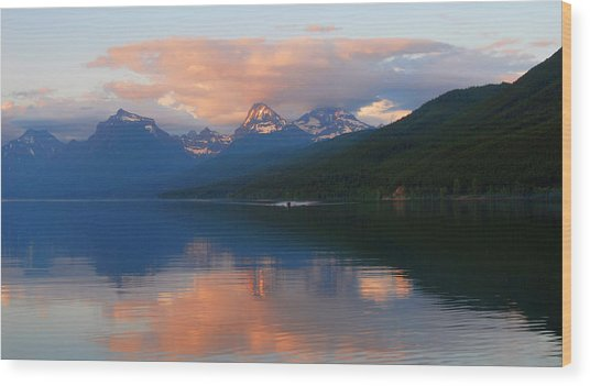 Glacier Lake Wood Print