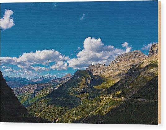 Glacier National Park Wood Print by Jon Woodbury