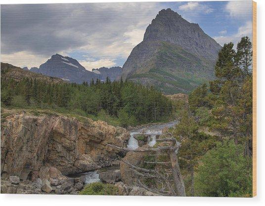 Glacier National Park Landscape Wood Print