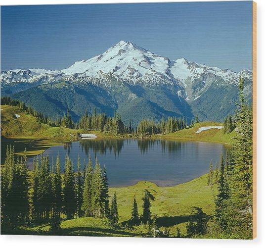1m4422-glacier Peak, Wa  Wood Print