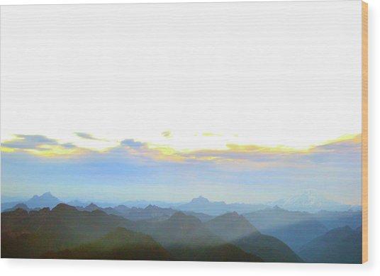 Glacier Peak At Sunrise Wood Print