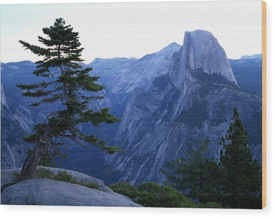 Glacier Point Wood Print