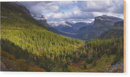 Glacier Storm Wood Print