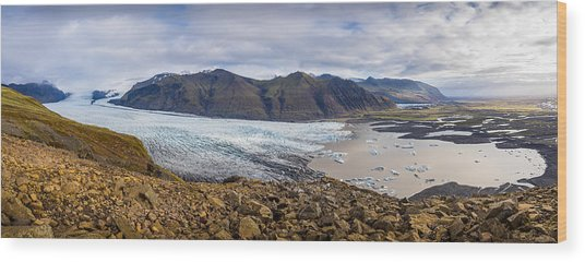 Wood Print featuring the photograph Glacier View by James Billings