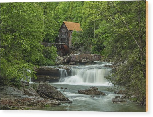 Glade Creek Grist Mill In May Wood Print