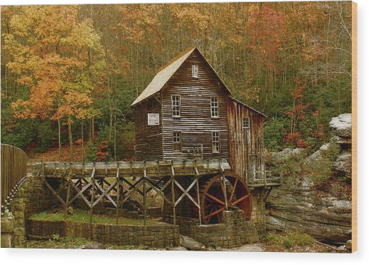Glade Grist Mill Wood Print