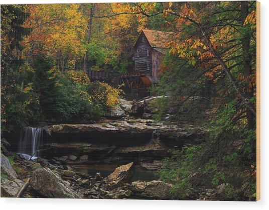 Glades Creek Grist Mill West Virginia Wood Print