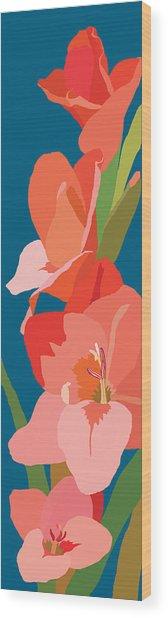 Gladiolus Wood Print by Marian Federspiel