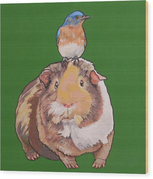 Gladys The Guinea Pig Wood Print