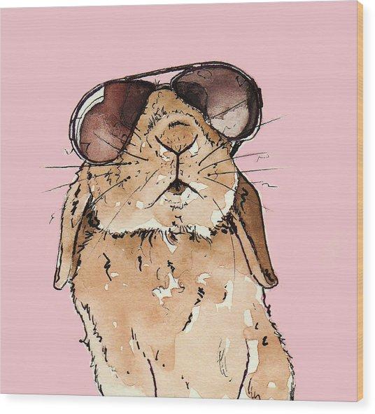 Glamorous Rabbit Wood Print