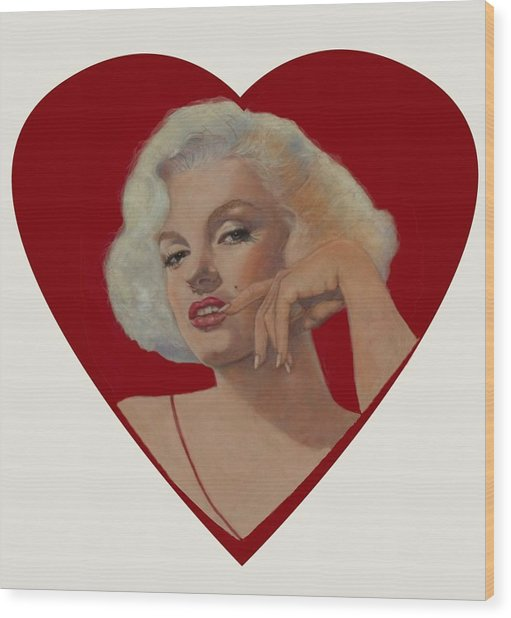 Glamour Portraits Wood Print by Pamela Mccabe