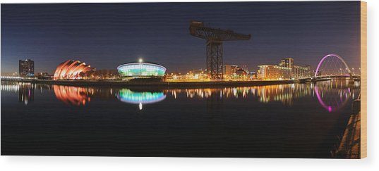 Glasgow Clyde Panorama Wood Print