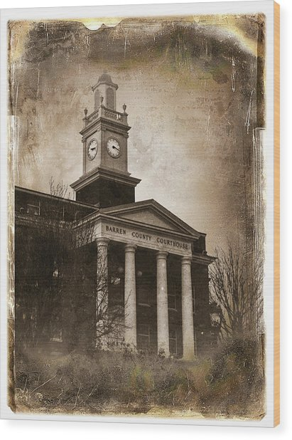 Glasgow Ky Courthouse Wood Print