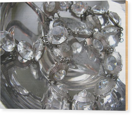 Glass And Silver Wood Print by Lindie Racz