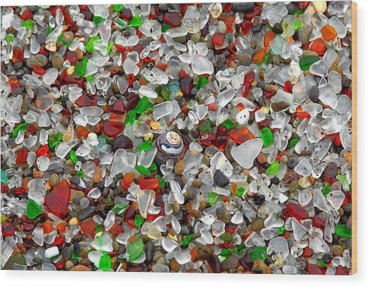 Glass Beach Fort Bragg Mendocino Coast Wood Print